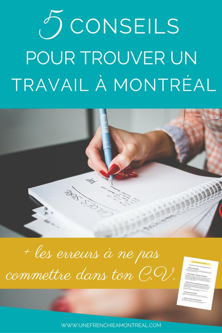 conseil pour trouver emploi à Montréal
