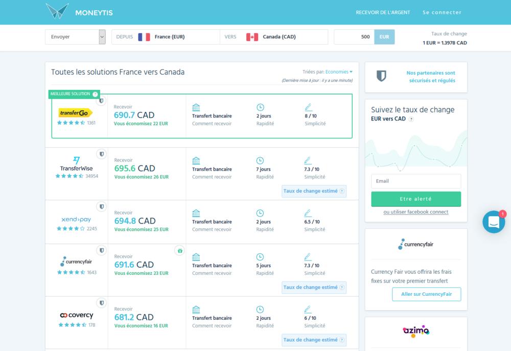 moneytis ex change 500 euros