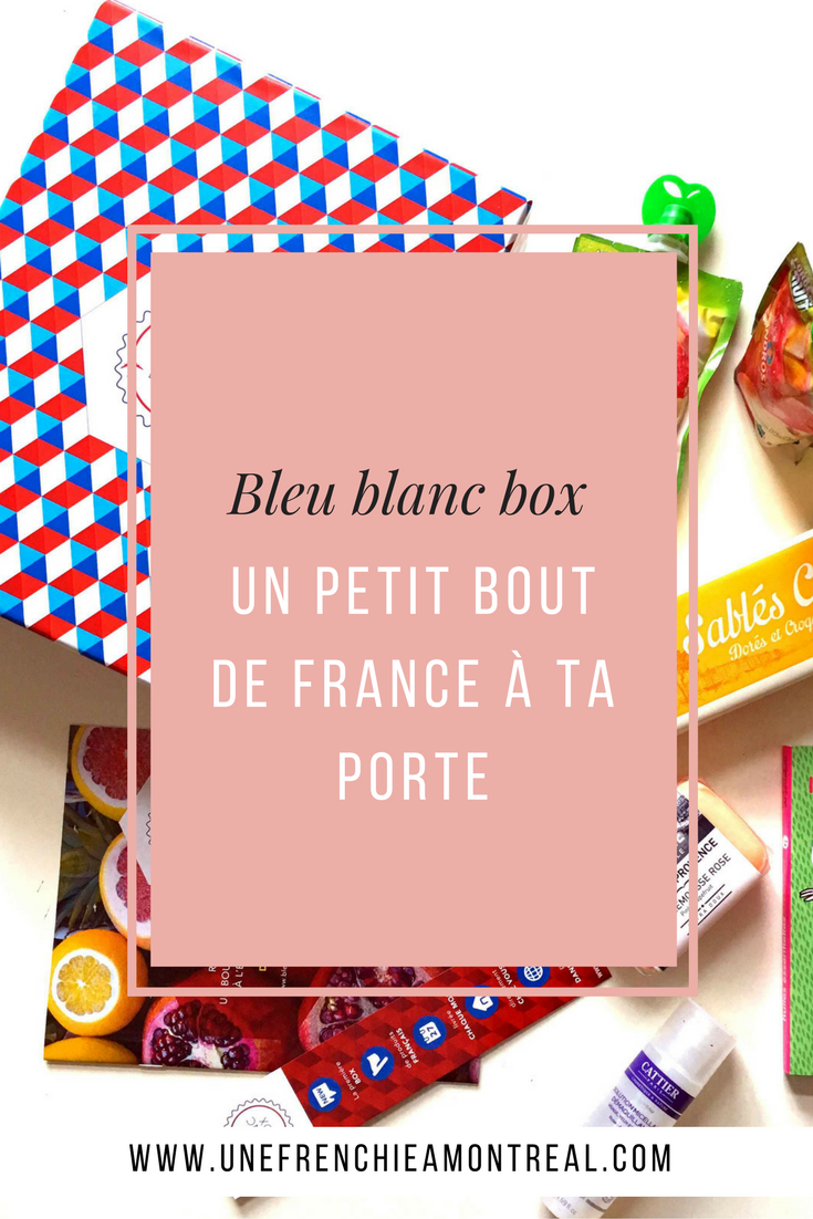 C'est pas parce qu'on vit à l'étranger que l'on doit faire une croix sur tous les produits français, non, non. Fort heureusement, il est possible de s'en faire envoyer un peu tous les mois directement à domicile ! J'ai testé pour toi les coffrets cadeaux Bleu Blanc Box ?  #montreal #expatriation #viedexpat #cadeaux #coffretcadeaux