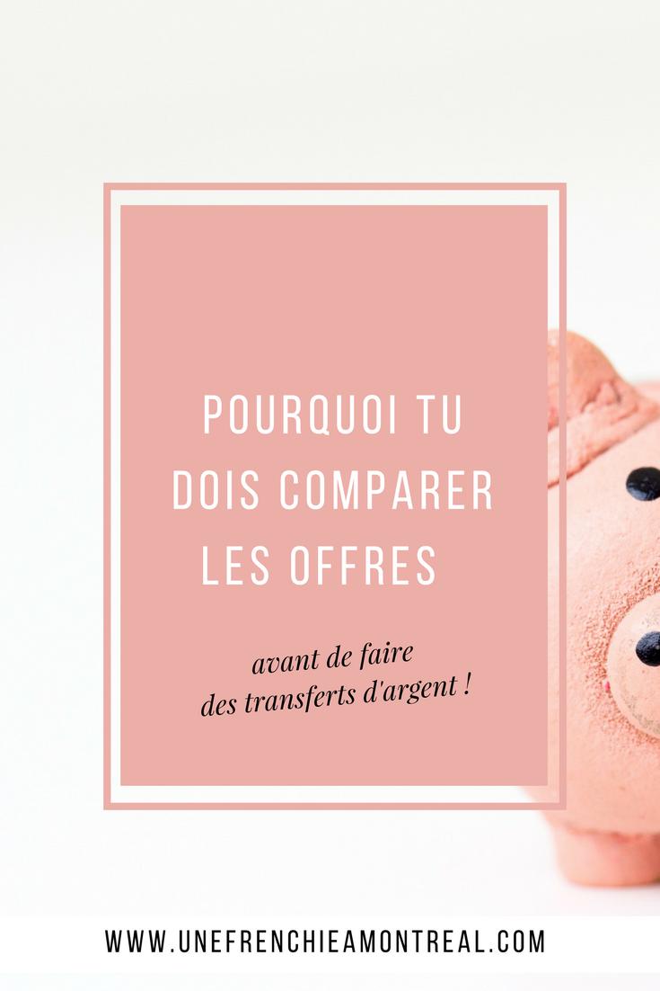 Tu te demandes comment tu vas faire pour envoyer de l'argent à distance entre la France et le Canada ? Un conseil, pense bien à comparer les offres avant de faire tes transferts où tu pourrais bien avoir de mauvaises surprises... #virementsinternationaux  #montreal #expatriation #viedexpat