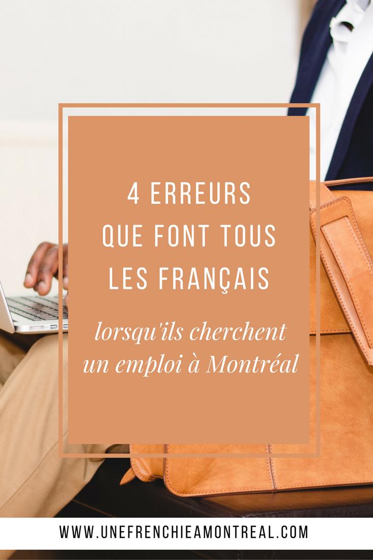 5 erreurs que font tous les Français lorsqu'ils cherchent un emploi à Montréal