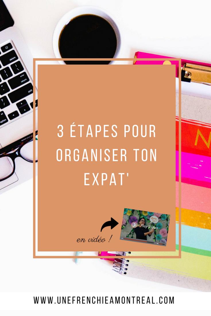 Tu dois préparer ton expatriation à Montréal et tu ne sais pas par où commencer ? J'ai pour toi 3 étapes pour t'aider à organiser ton expat'!  #montreal #expatriation #viedexpat