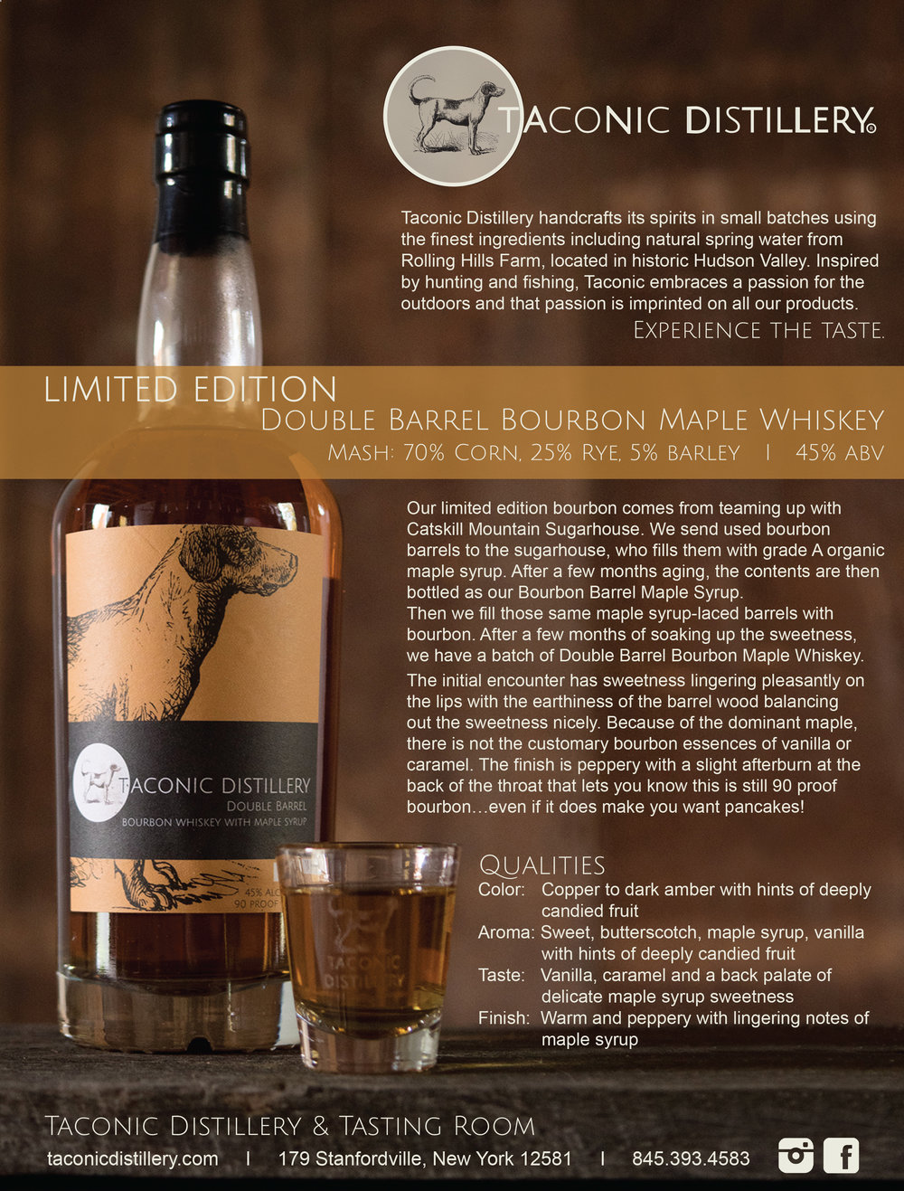 Double Barrel Bourbon Maple Whiskey