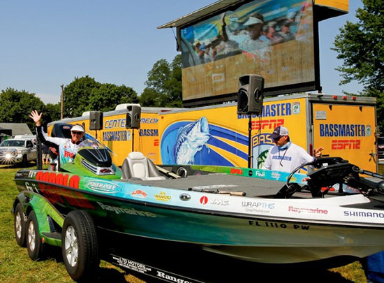 Drive-thru weigh-ins are particularly rewarding. - photo courtesy of BASSMASTER.com