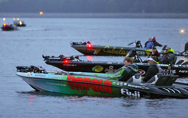 Staged for take-off, a short idle from my starting spot. - photo by James Overstreet, courtesy of BASSMASTER.com