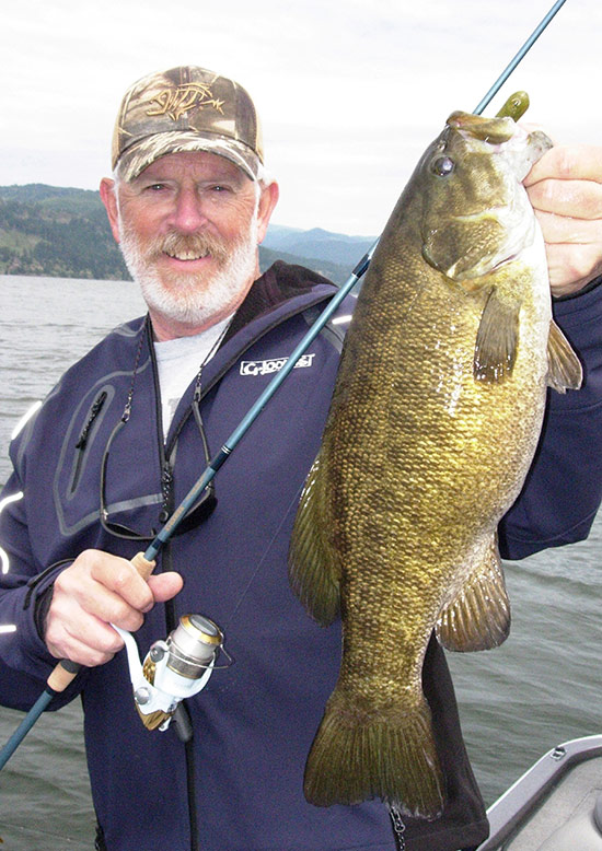 Bruce Holt is on of the West's best known anglers, fishing over much of the world while holding down some of the top jobs in the rod building industry. Bruce lives in Kalama, WA, a small town right on that big river's shore. He'll tell you he doesn't have to go very darn far from home to find the outstanding smallmouth bass fishing prospects the Columbia now offers.