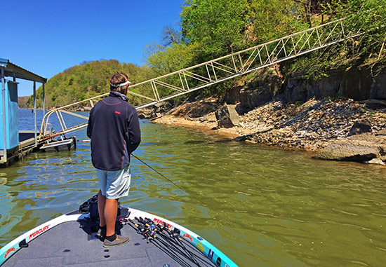 As the tournament progressed, the bass moved tighter to docks and shoreline features.