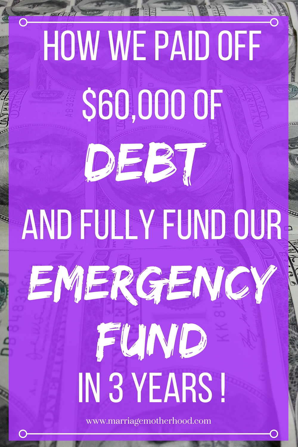 How we paid off $60,000 of and fully funded our emergency fund in 3 years!