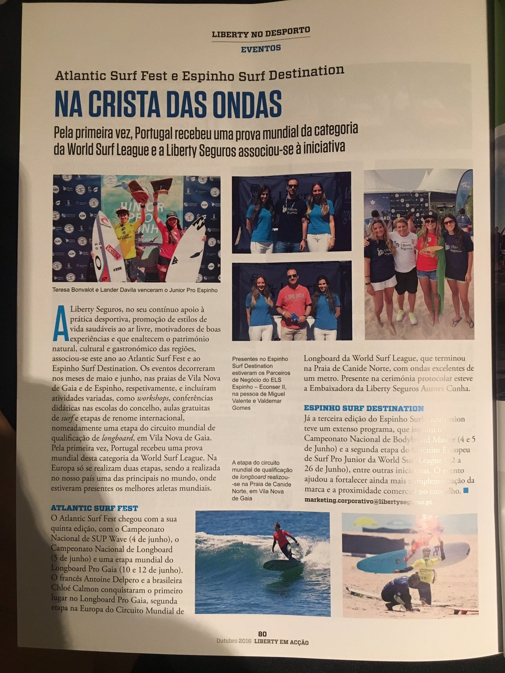 In revista Liberty no desporto, Outubro 2016