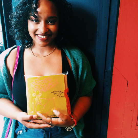 "Jordan chose a new journal for herself at the popup, from the ""Journal x A New Name"" series."