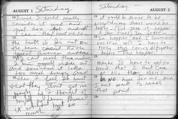 a spread from Nina Simone's diary
