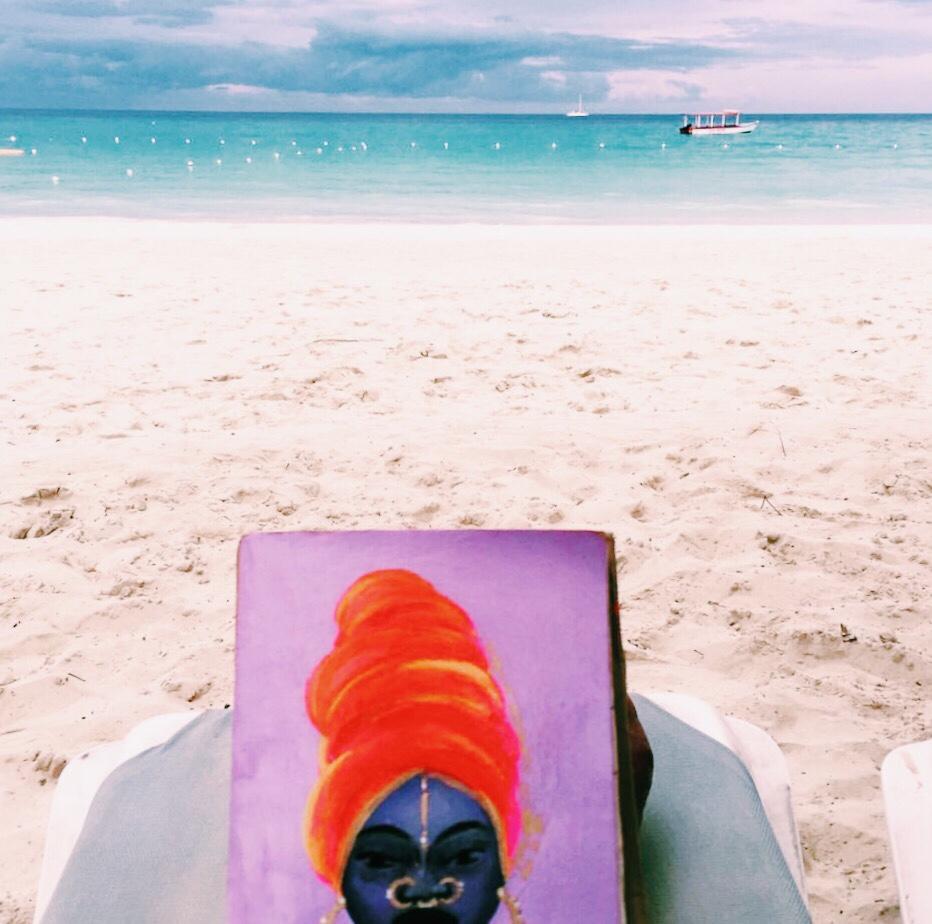 Danesha in the Bahamas.
