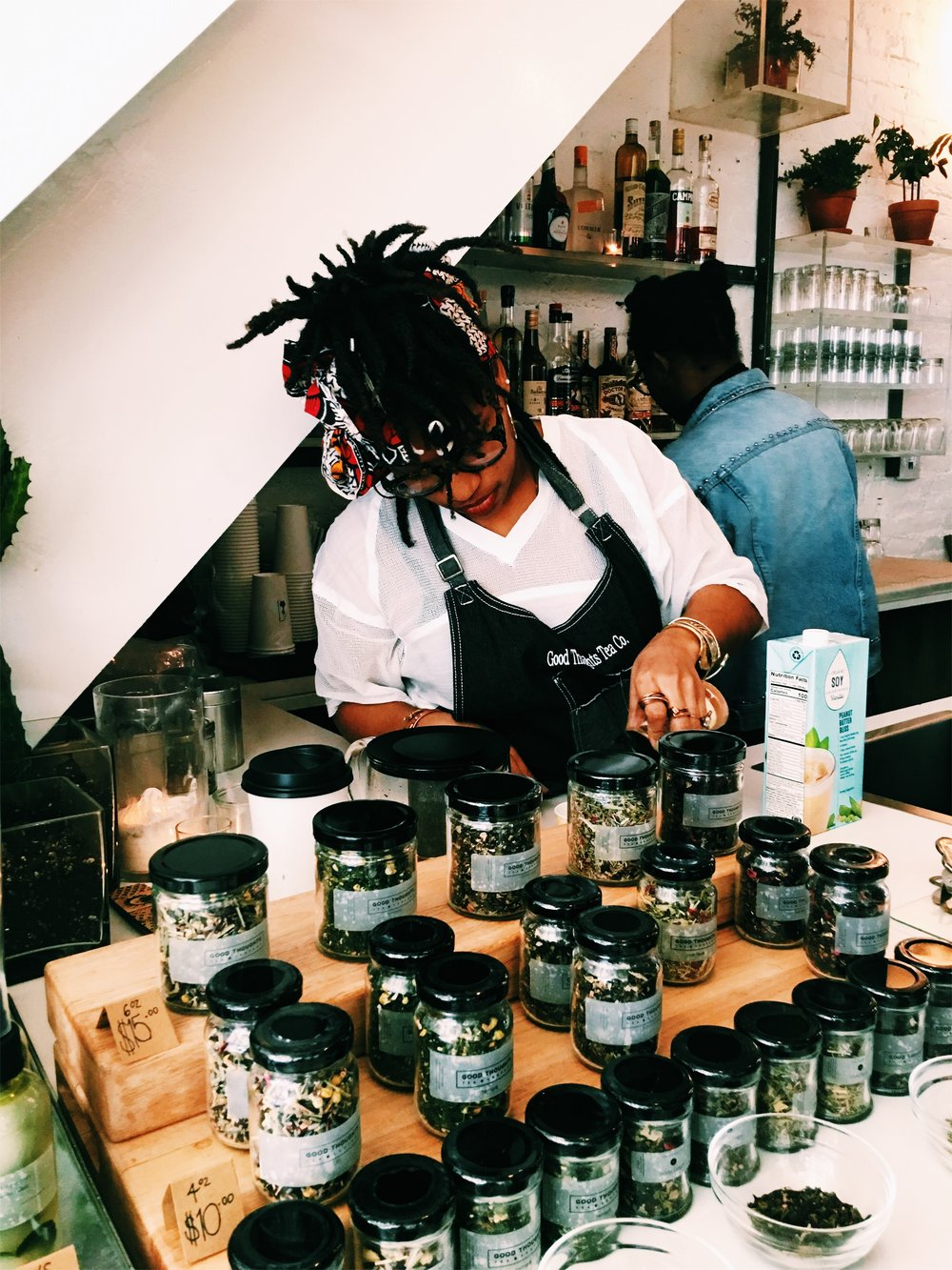 Popup Teabar by Eboné Mccloud of  Good Thoughts Tea Company