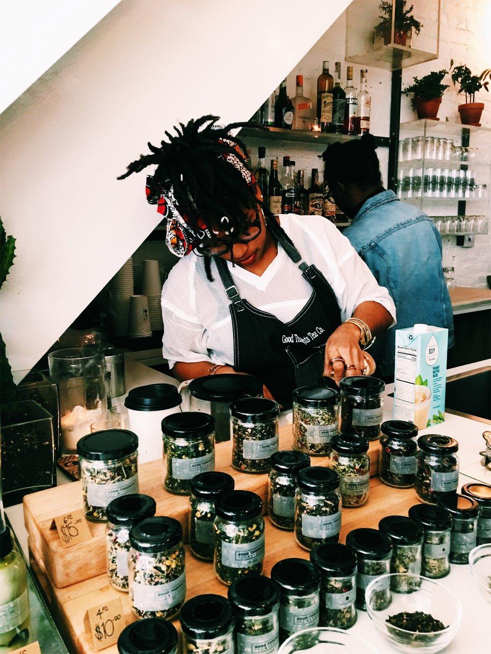 Popup Teabar by Eboné Mccloud of  Good Thoughts Tea Company