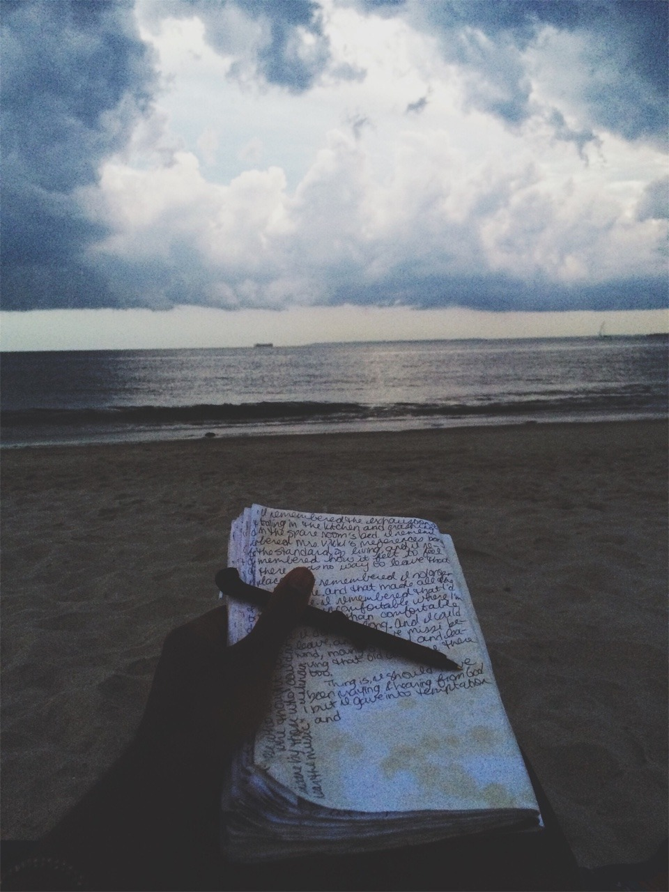 Journaling, 2015.  Brighton Beach.
