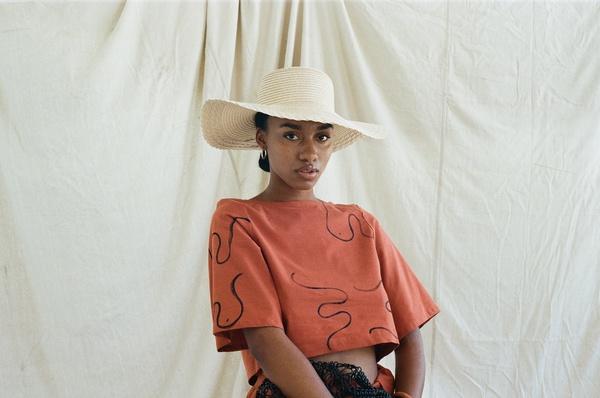 Little Keïta Top designed by Chelsea Bravo  ph: Travis Matthews