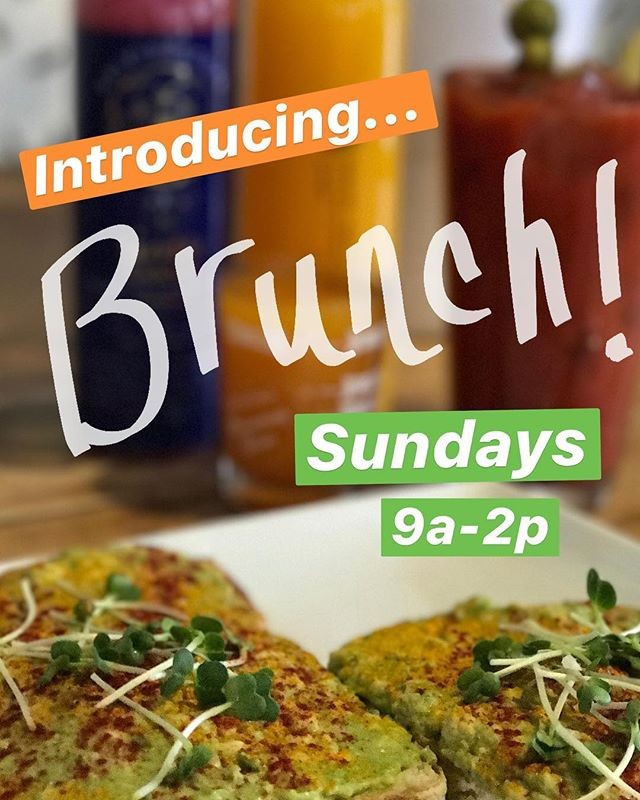 Join us at our downtown location this Sunday for the launch of our new Sunday Brunch! 9am-2pm; Mimosa flights, BYO Bloody Mary bar, and the best gluten-free waffles you've ever had. See you Sunday! 🥂#brunch