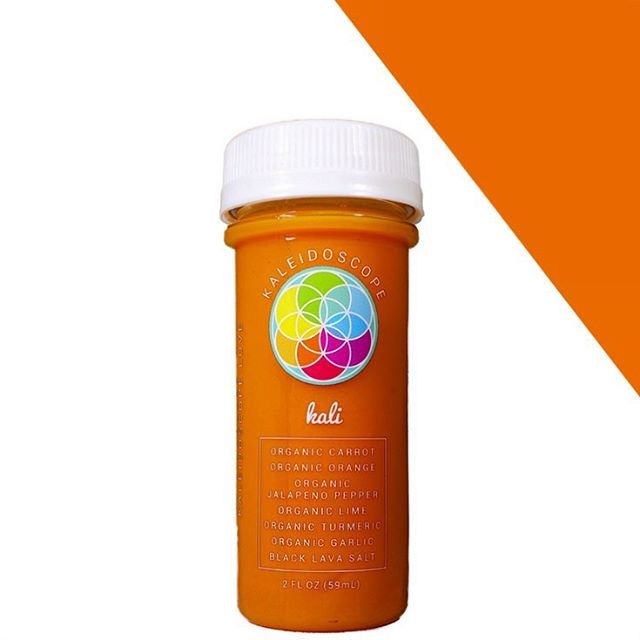 WELLNESS SHOT SERIES JUICE 1: // THE KALI ~Perfectly curated to boost the metabolism , clear sinuses , and strengthen the immune system the KALI will leave your body purified from all toxins. 🌱 active ingredients: carrot, orange, jalapeño, turmeric, lime, garlic, black lava salt