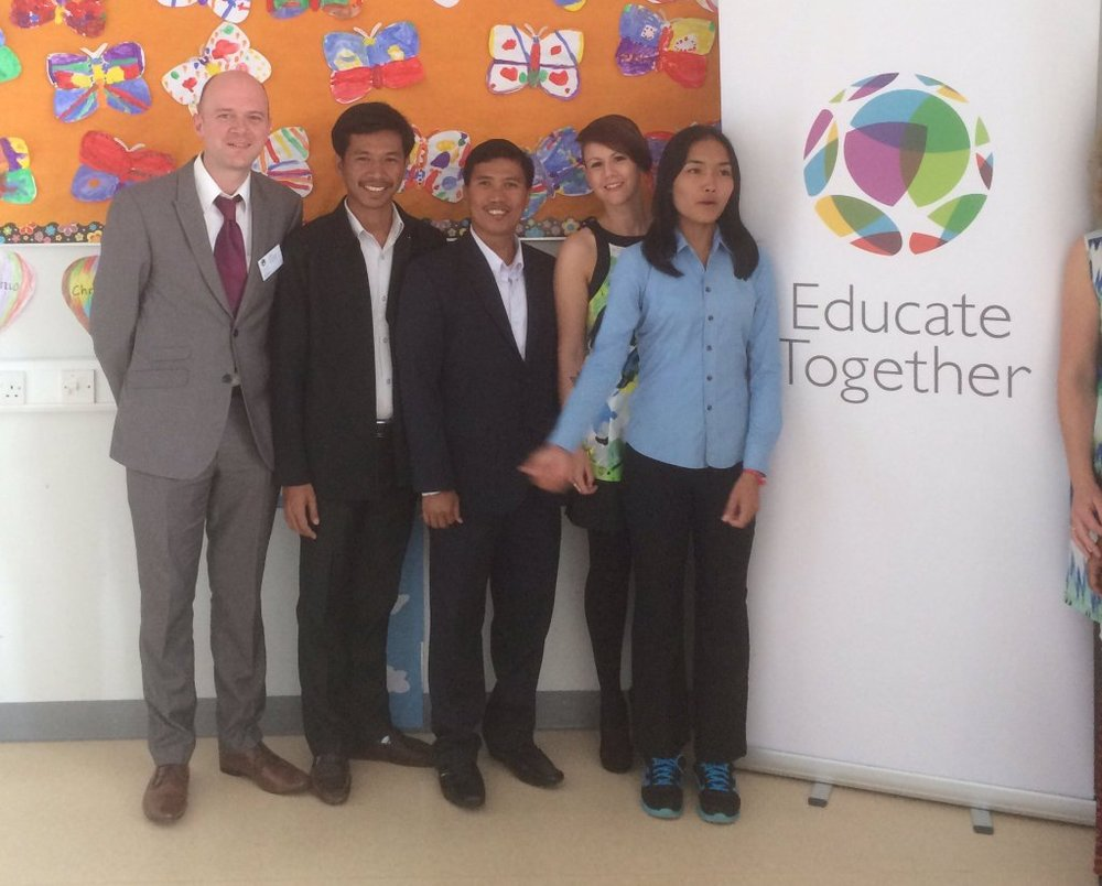 Colm pictured with educators from Siem Reap in Cambodia at the Educate Together 2016 AGM