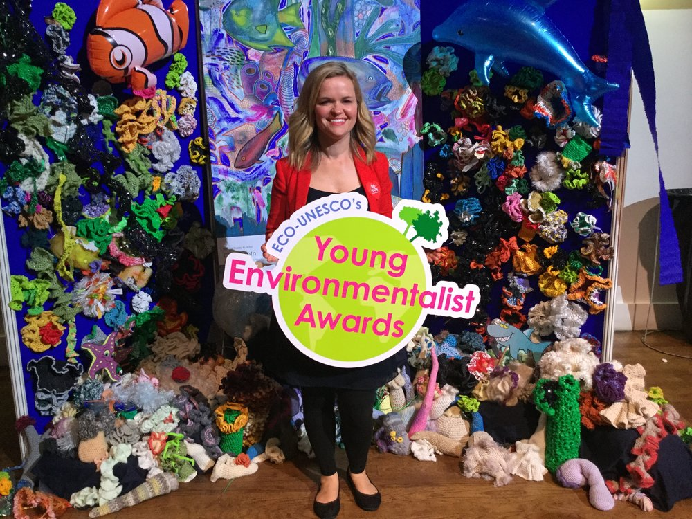 Pam at the Young Environmentalist Awards