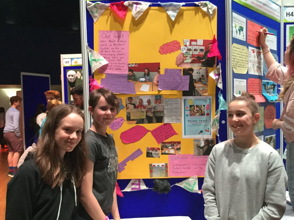 Students at their stand at the Young Environmentalist Awards