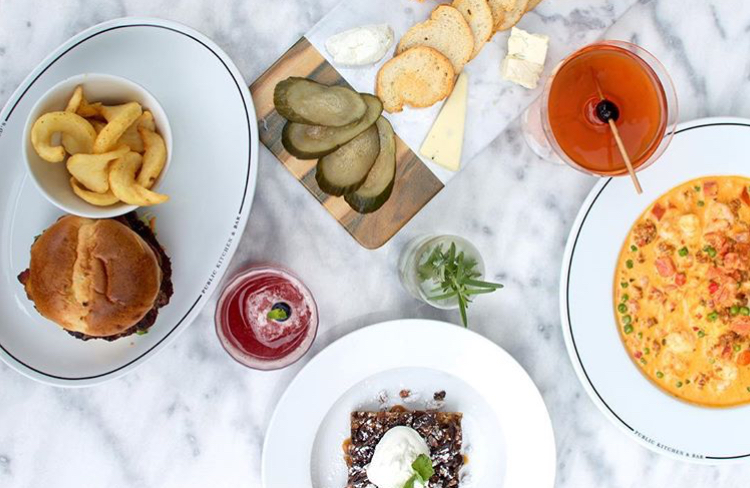 The Public's brunch atmosphere is upscale casual - wait, is that a thing? Yeah - it's a thing. And we like it. photo @thepublickitchenandbar