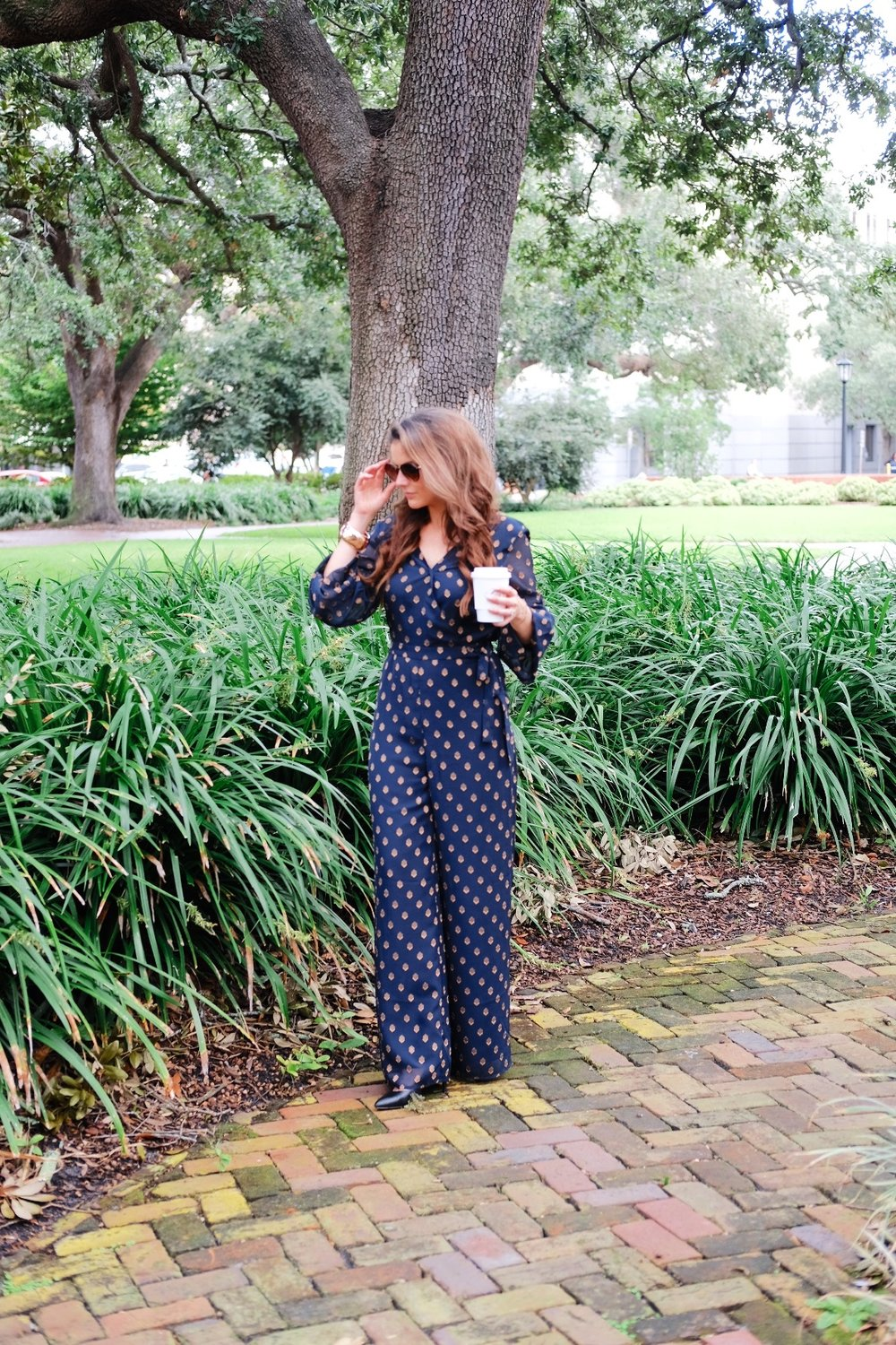 Brenna Lauren in Telfair Square with coffee