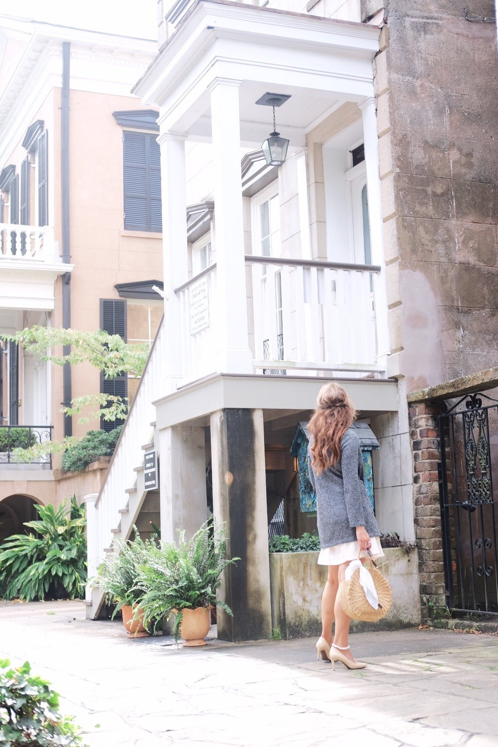 Brenna in front of Flannery O'connor House