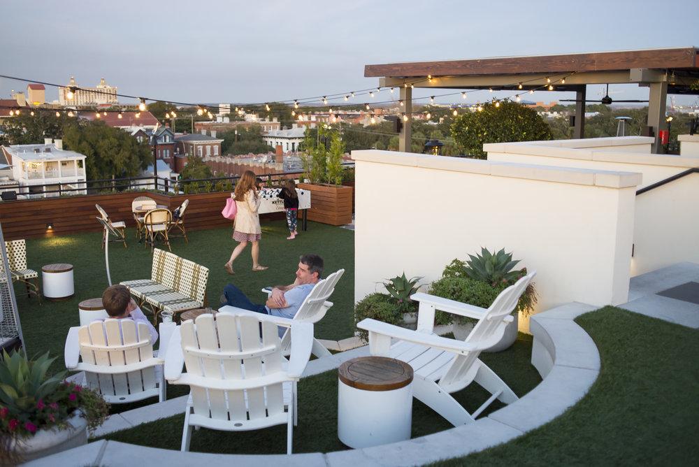 The Peregrine Rooftop Bar at Perry Lane Hotel, Savannah GA | Genteel & Bard