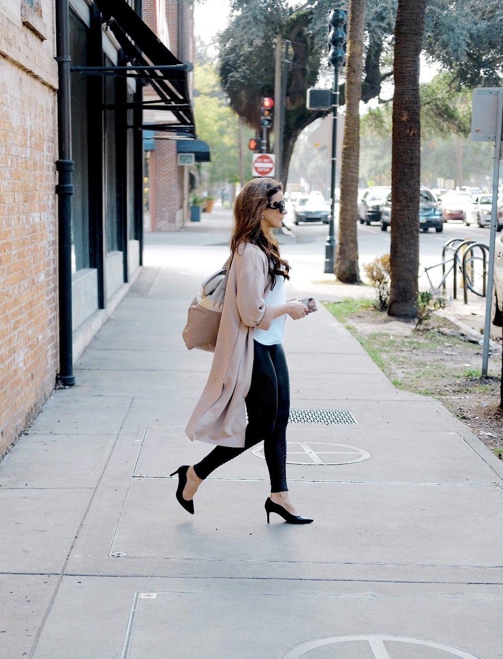 Brenna Lauren Michaels on shopping trip on Broughton Street, Savannah GA