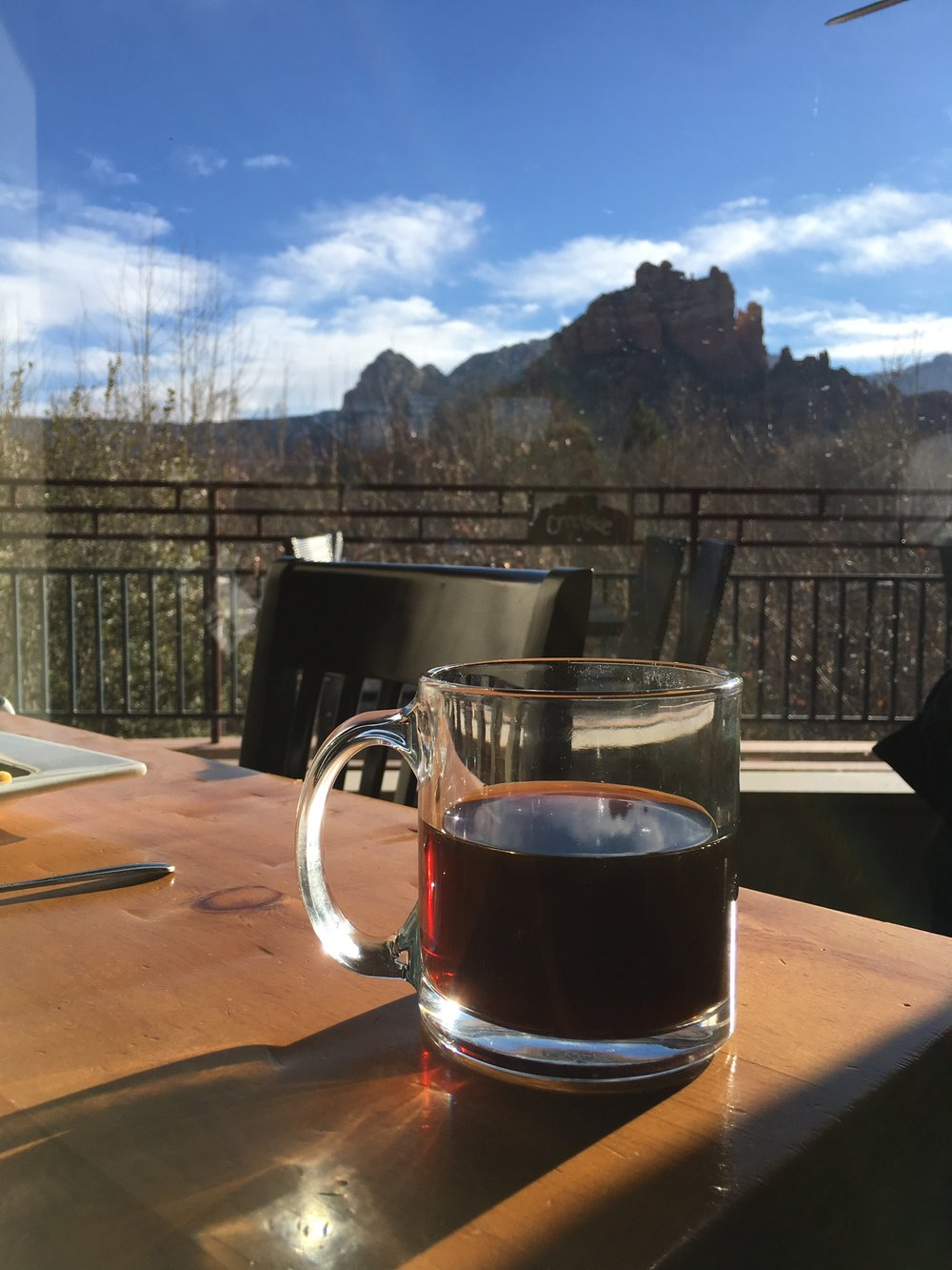 Coffee in Sedona, AZ--forever one of the best meals and mornings of my life.