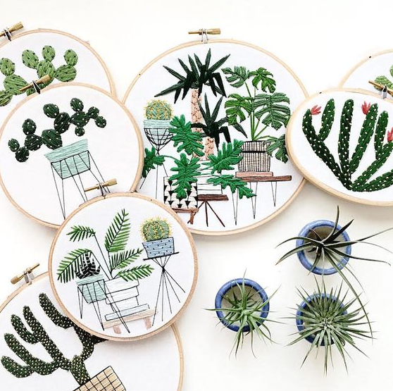 Contemporary embroidery by one of my favorite artists, Sarah K. Benning