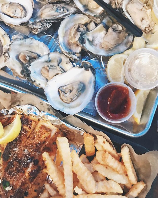 The perfect meal. 🐚🍟💙