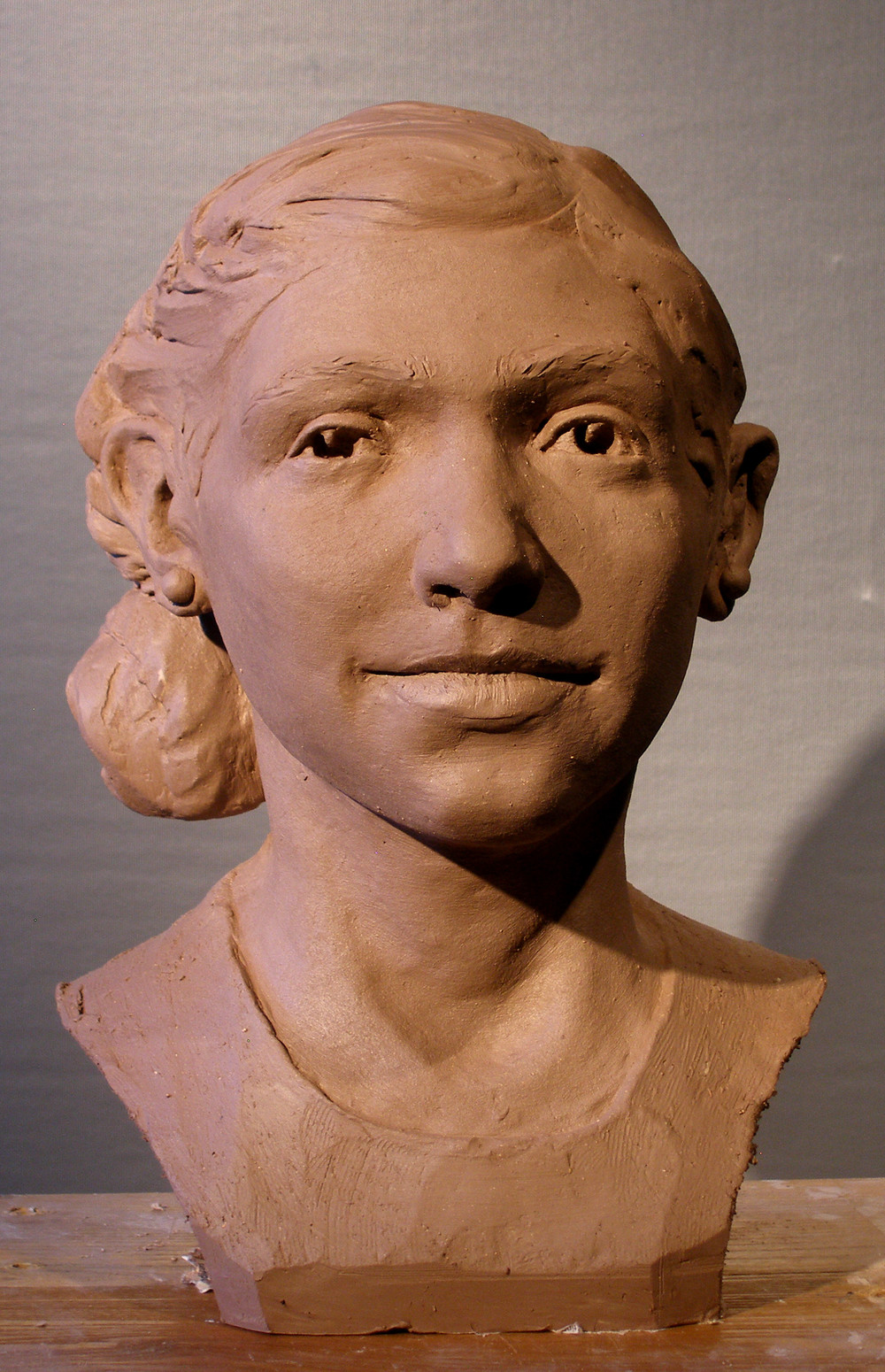 """Maida"" terra cotta, life sized."
