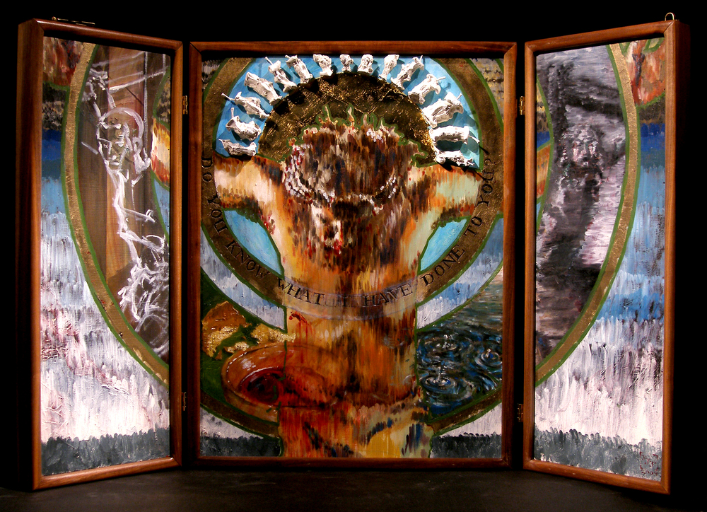 """In Christ Alone"" triptych, Evangelical Lutheran Synod, Mankato, MN"