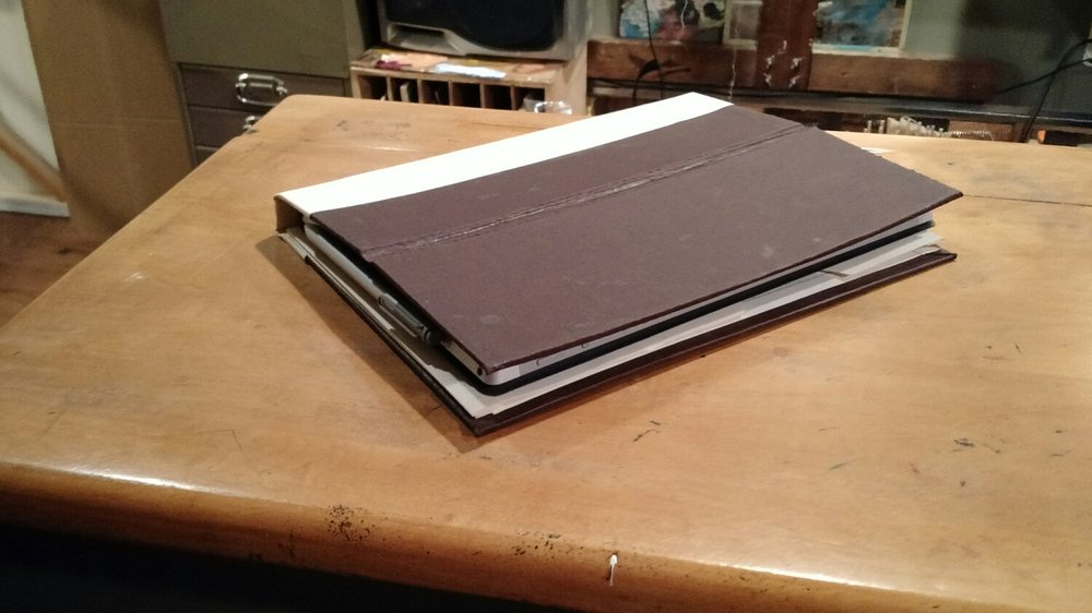 Hardcover sketchbook mode.