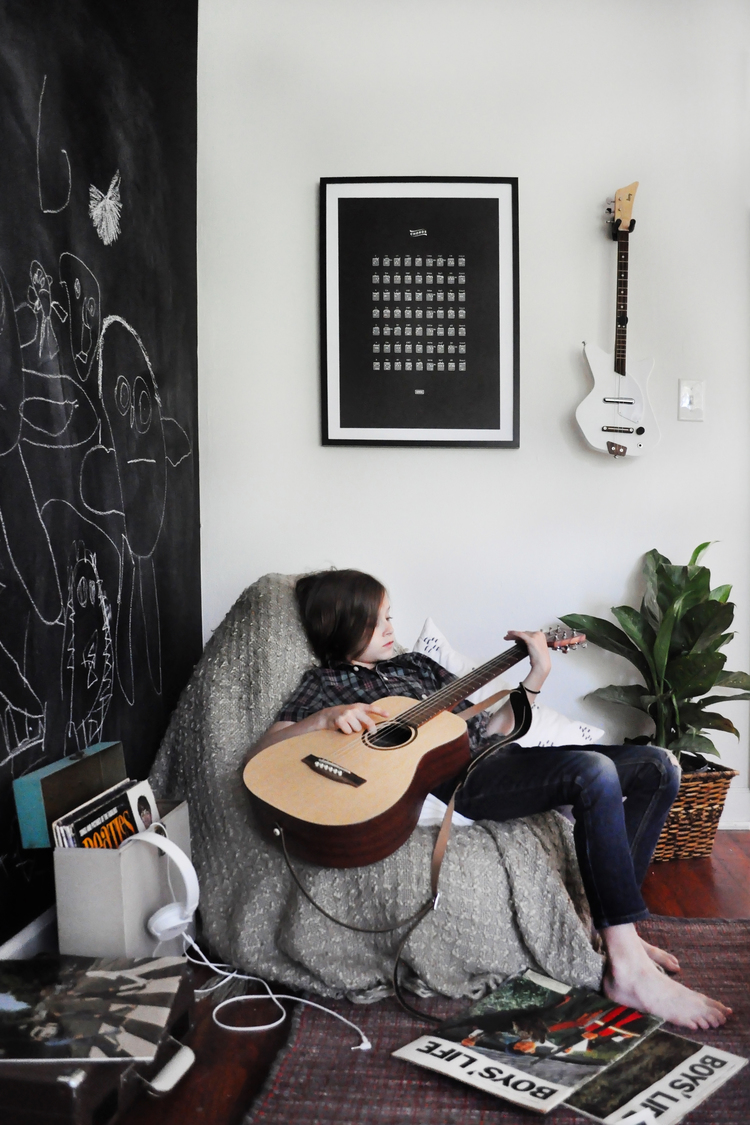 Because I Love Referential Wall Art Was Very Pleased To Run Across This Guitar Chords Chart Poster From BOWOO Is Now The Perfect Little Corner For