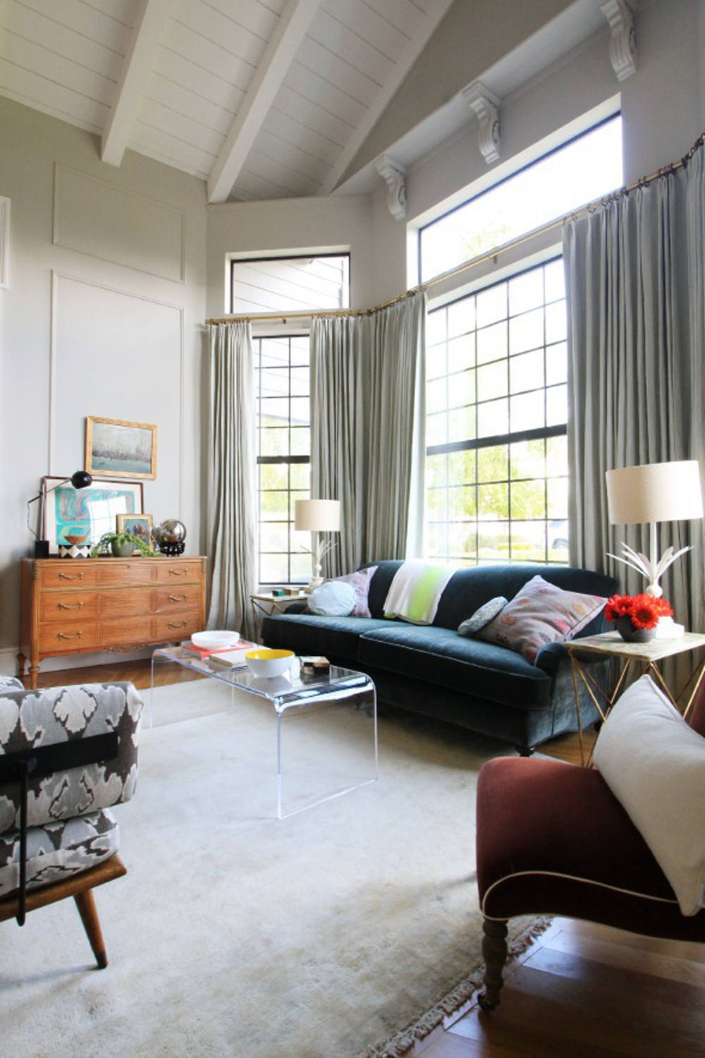 As For Choosing The Sofa Style, I Was Really Feeling This Room, The Modern  And Vintage Mix, And Was Inspired To Go With A More Traditional Sofa And  Maybe ...