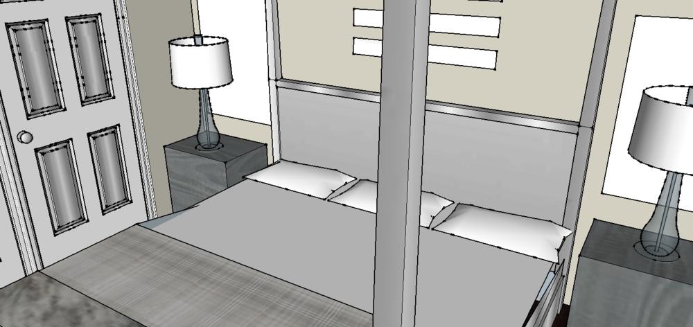 Lake house bedroom