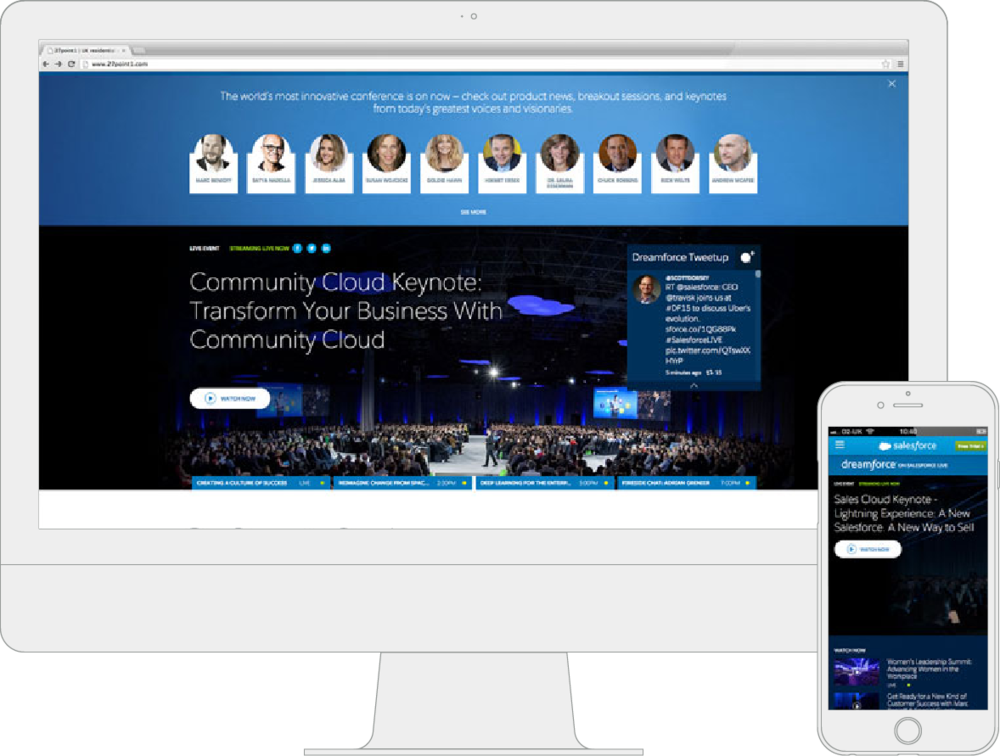salesforce site and mobile