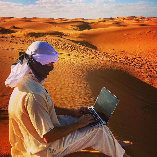 #tbt to that time we setup shop in the Sahara Desert. When we say we #workfromanywhere we mean it 😉