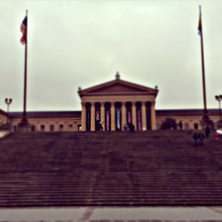 That is my in philly running the Rocky stairs.