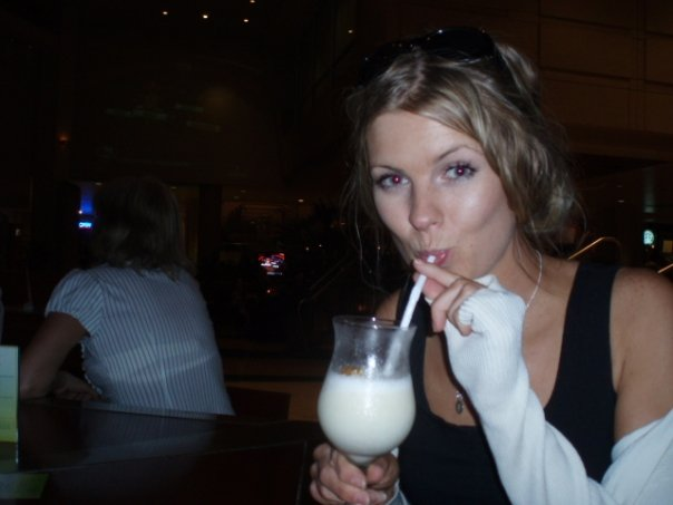 Me in 2009...Enjoying one of many drinks at the hotel bar in San Juan.