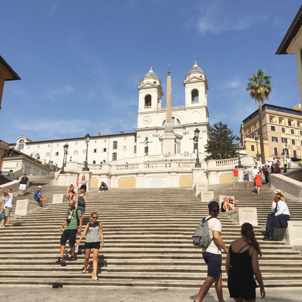 The Spanish Steps - I just climbed the Spanish Steps for the first time. Last time I was here, I was too much of a drinker and smoker to bother. Sobriety FTW.