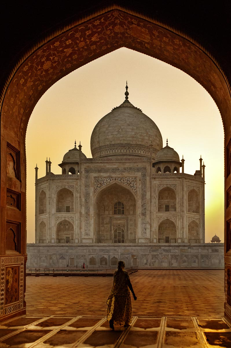Sunrise at the Taj Mahal is a breathtaking experience