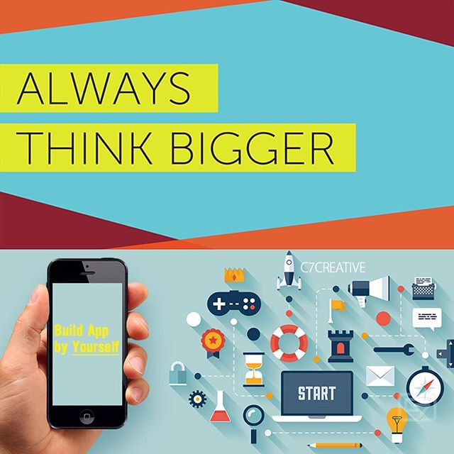 Whatever you're thinking, THINK BIGGER! You must keep up with tech trends or you and your business could fall behind very quickly.  We have simplified technology for you by allowing you to create your own app and have it published on the Apple and Android stores! No more paying ridiculous amounts for app development, we provide you with all the tools you need to build your own app!  #goodapps #editing #editingapp #apps #edits #editapps #newhashtag #iloveart #comment #webdevelopment #freelance #draganddropapp #dragdropapp #datastructure #creativity #ios #app #AppStore #iosapp #apple #android #googleplaystore #androidapp #coolapps #innovation #tech #professional #trending #smallbiz #marketingdigital