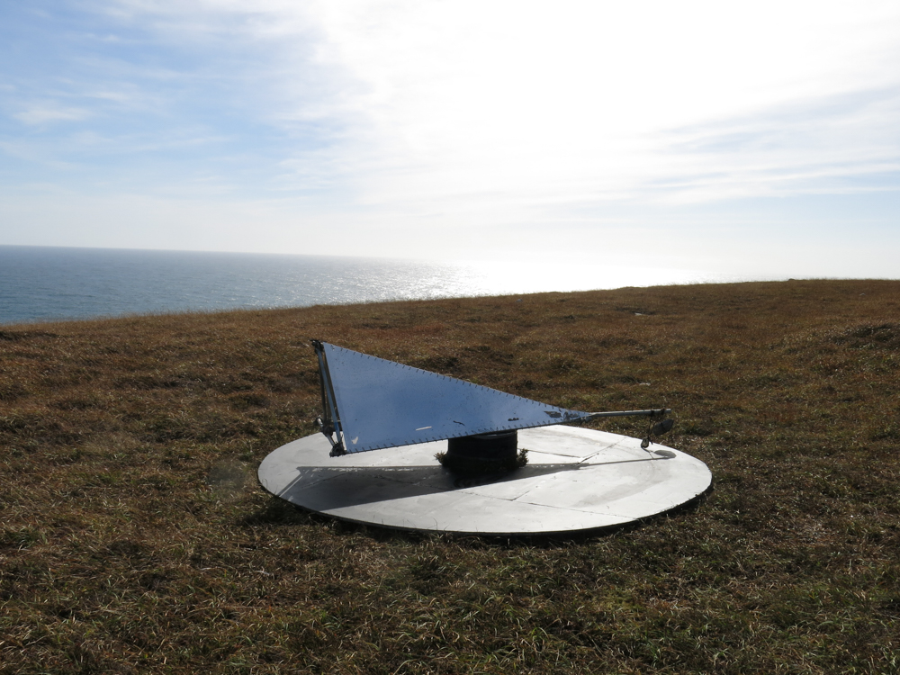Tairleareachta   Rosie O'Reilly created a work that would be activated by the wind on the headland and physically map it's movement over a fixed period of time.