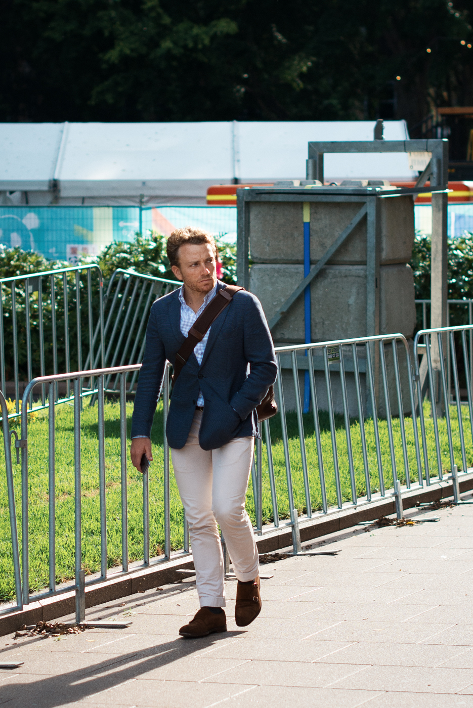 White trouser.  Similar look:   Orlebar Brown Trousers  .