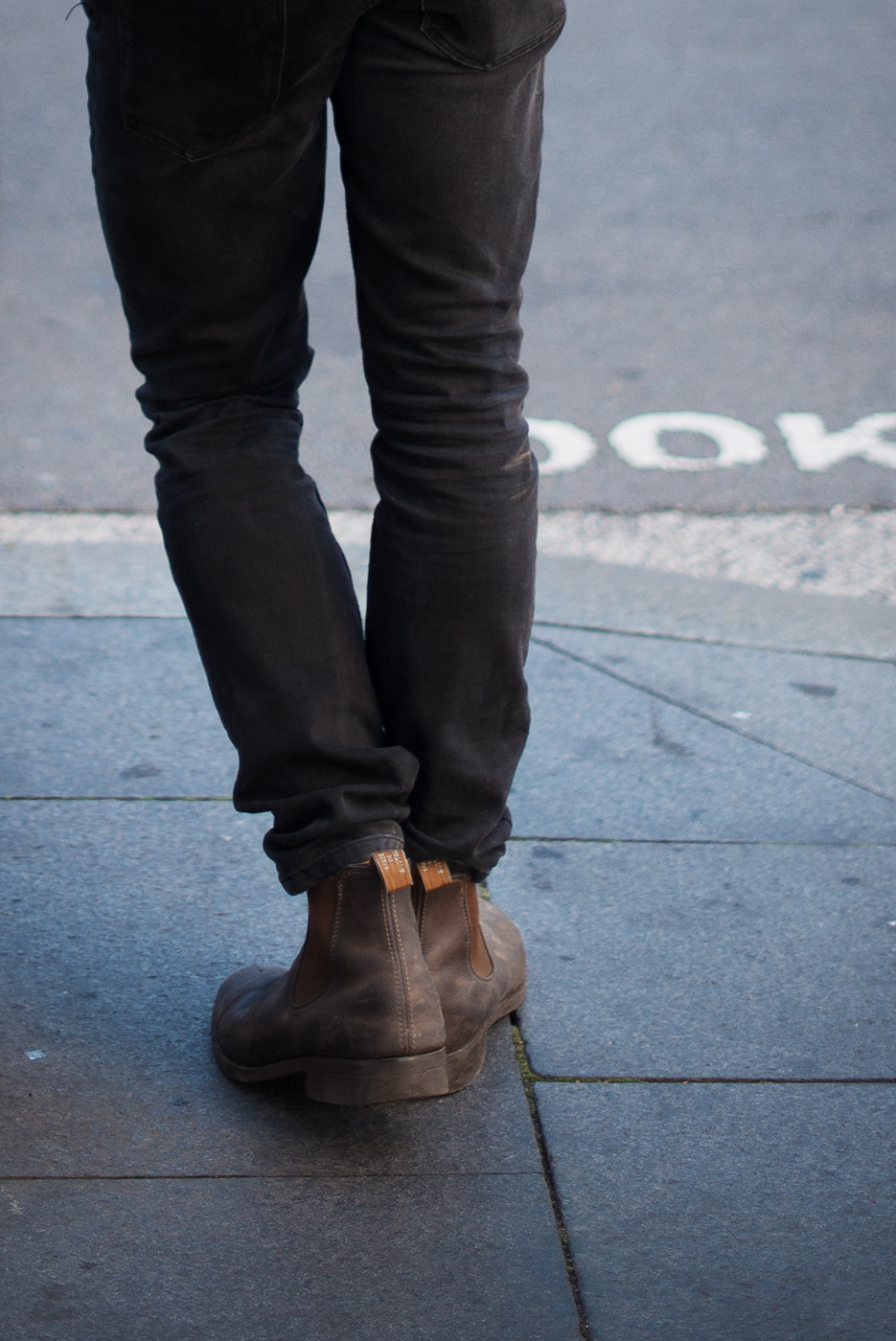 Chelsea boot.  Similar look:   R.M. Williams Chelsea Boots  .