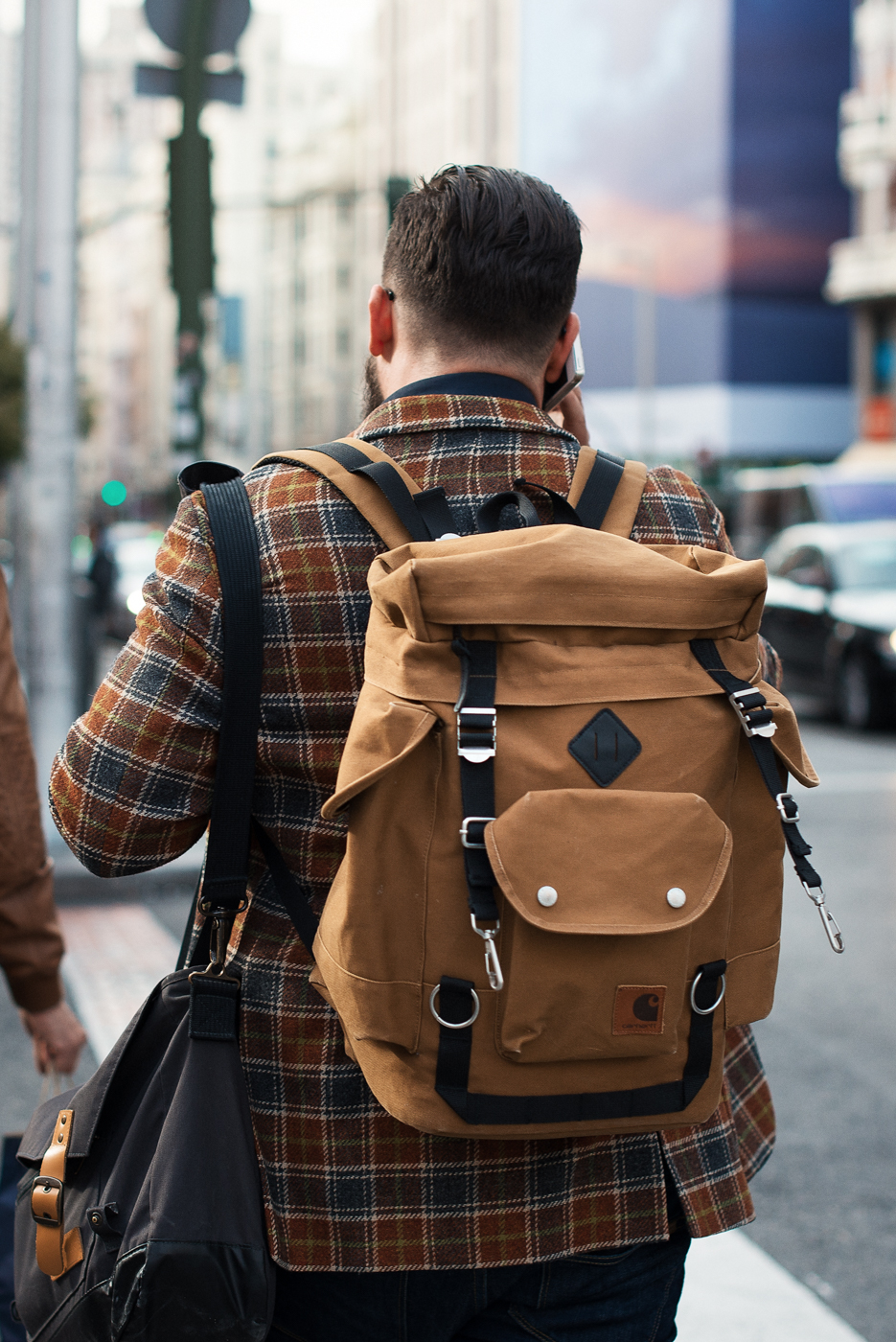 City hunt.  Similar look:   Atelier de L'Armée Backpack  .